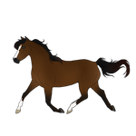Trotting Horse Lineart