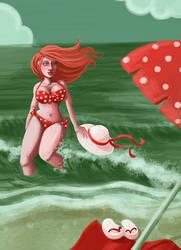 On the Sea Shore by str4yk1tt3n