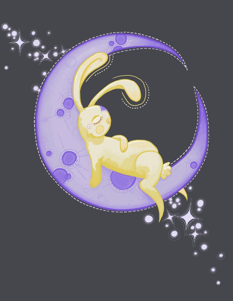 bunny on the moon by str4yk1tt3n