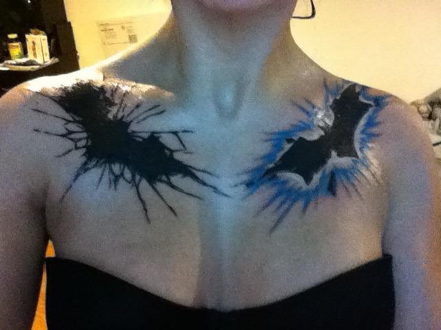 Batman tattoos by neverendingdeath666 on deviantart for Female batman tattoos