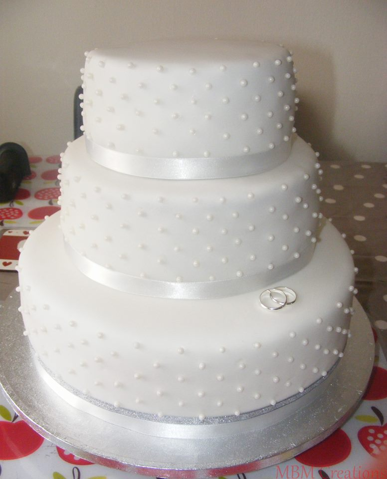 White Pearl Wedding Cake by MBMCreations on DeviantArt