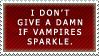 Stamp: Sparkles McVampire