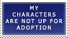 Stamp: Character Adoption by FlantsyFlan