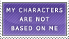 Stamp: Charaters Not Me by FlantsyFlan