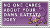 Stamp: No One Cares by FlantsyFlan