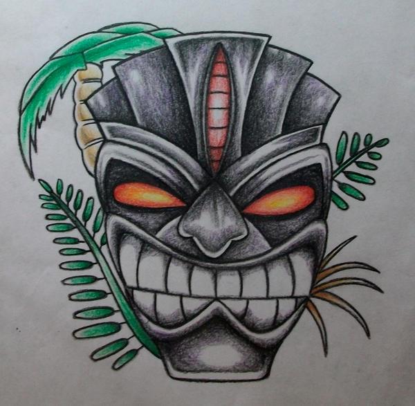 Tiki Mask Drawing by RockoArt on DeviantArt