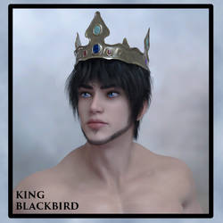 Portrait King Blackbird by CornellBlueMoon