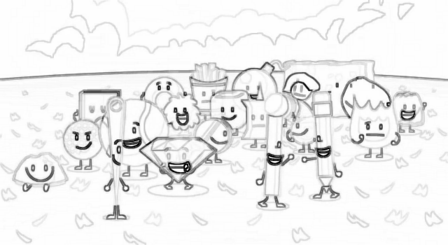 battle for dream island coloring pages sketch coloring page Battle for Dream Island Characters  Battle For Dream Island Coloring Pages