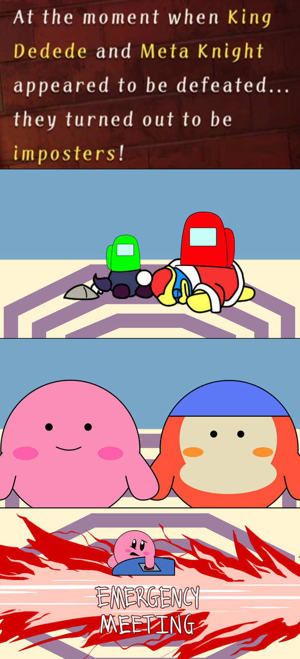 Kirby Meets Among Us By Domobfdi On Deviantart