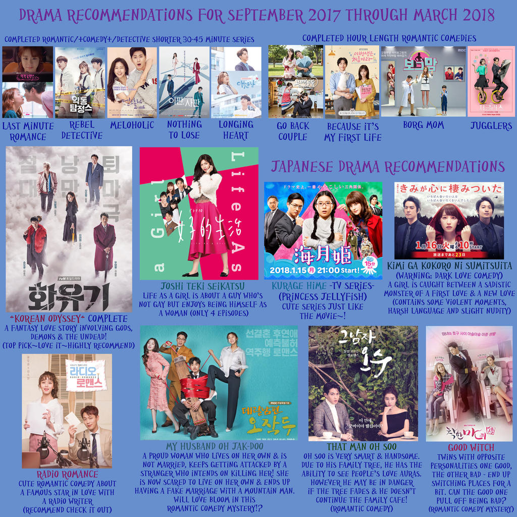 Korean/Japanese Drama Recommendations 2017-2018 by LuffyNoTomo on