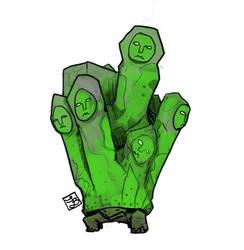 Poison Statue Cluster sketch - Dark Souls II by chuylol14