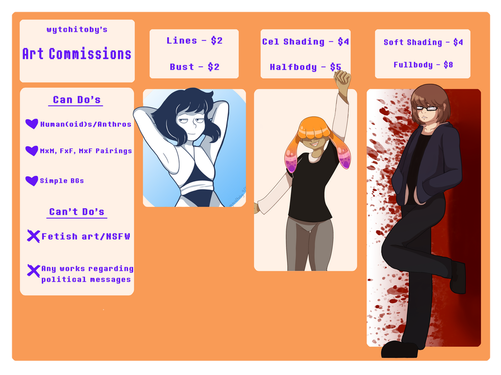 Commission Sheet [UPDATED 9/28/17] by wytchitoby