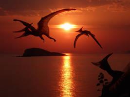Evening flight by Sketchy-raptor