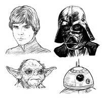 Star Wars Doodles by Sketchy-raptor