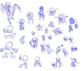 buncha random doodles by Maditox