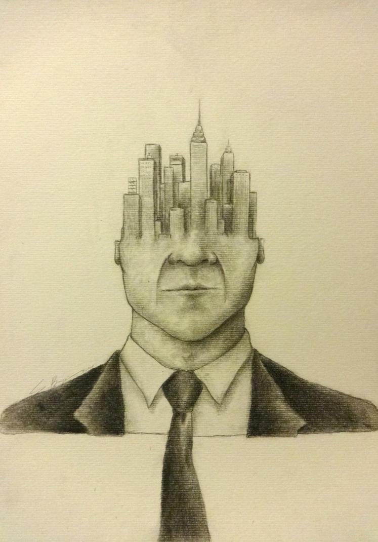 El hombre de negocios by Santrosk