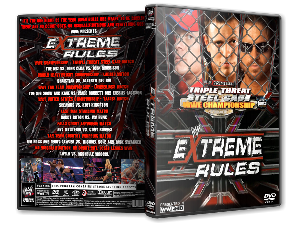WWE Extreme Rules 2011 by ToinouECW