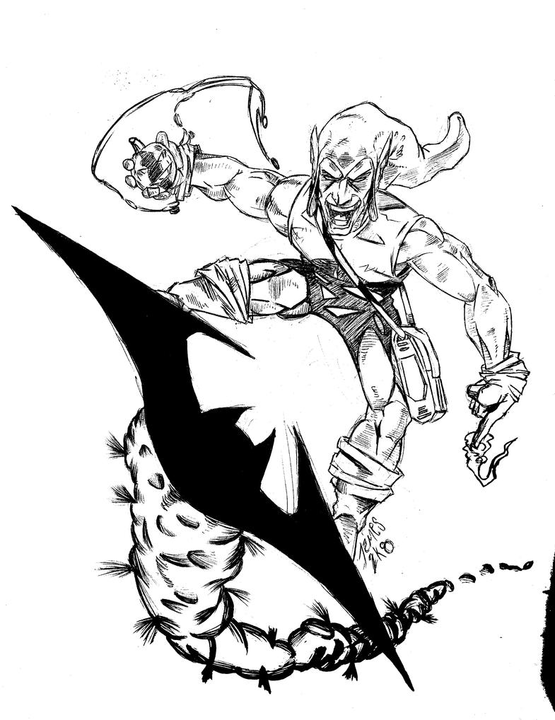 The green goblin by jamesleestone on deviantart for Green goblin coloring pages