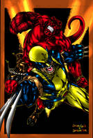 Hellboy n Logan Guile n Me 1.5 by JamesLeeStone
