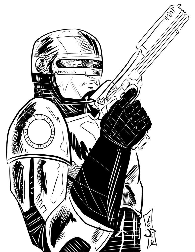 robocop coloring pages - photo#22