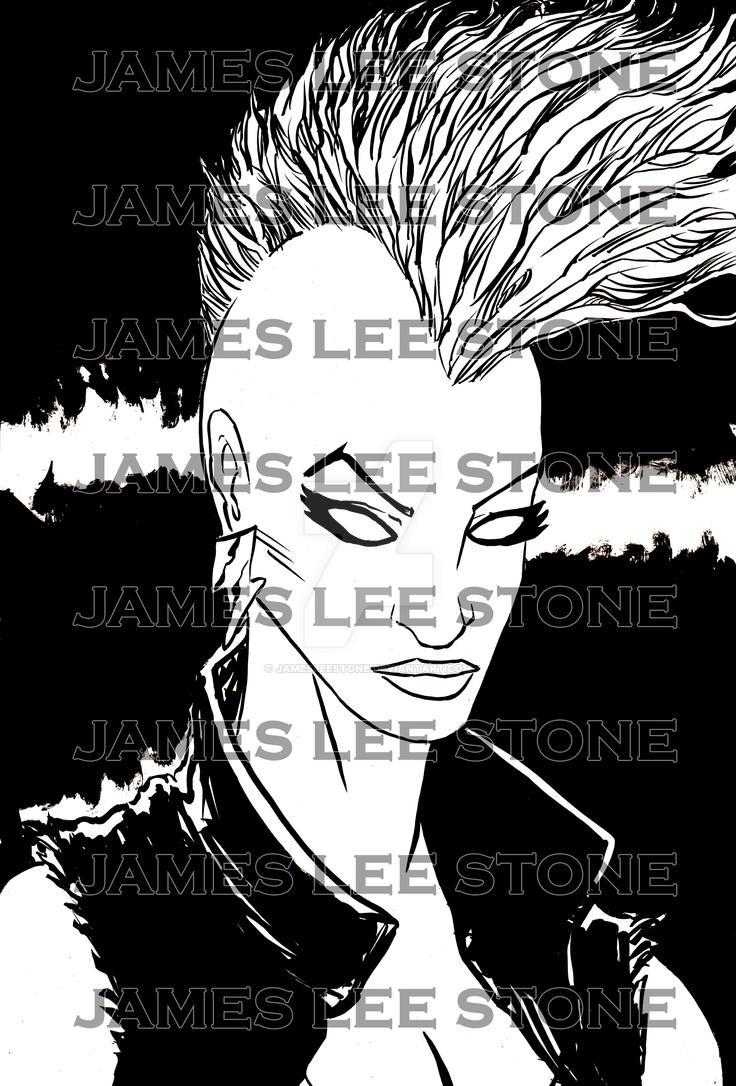 Punk Rock Storm Print by JamesLeeStone