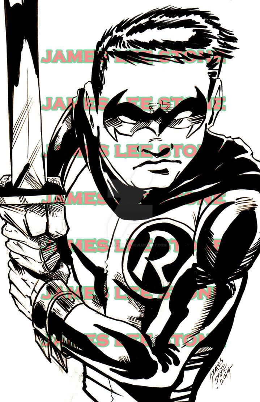 Damian Wayne Print by JamesLeeStone