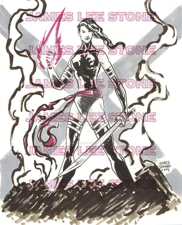 Psylocke Commission by JamesLeeStone