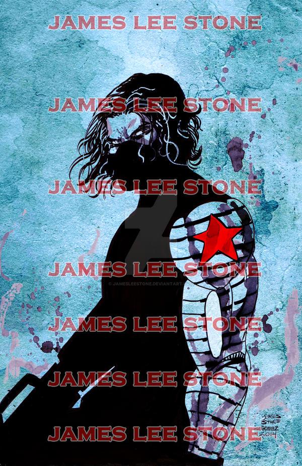 The Winter Soldier Print by JamesLeeStone