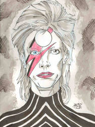 Starman Bowie Cancer Awareness Month