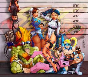 Street Fighter Lineup | Art Collab with Makuzoku!