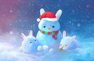 Snow Bunnies by shellz-art
