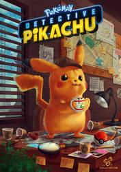 Detective Pikachu (SPEEDPAINT TUTORIAL!) by shellz-art