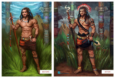 Spirit Guardian (Before and After!) by shellz-art