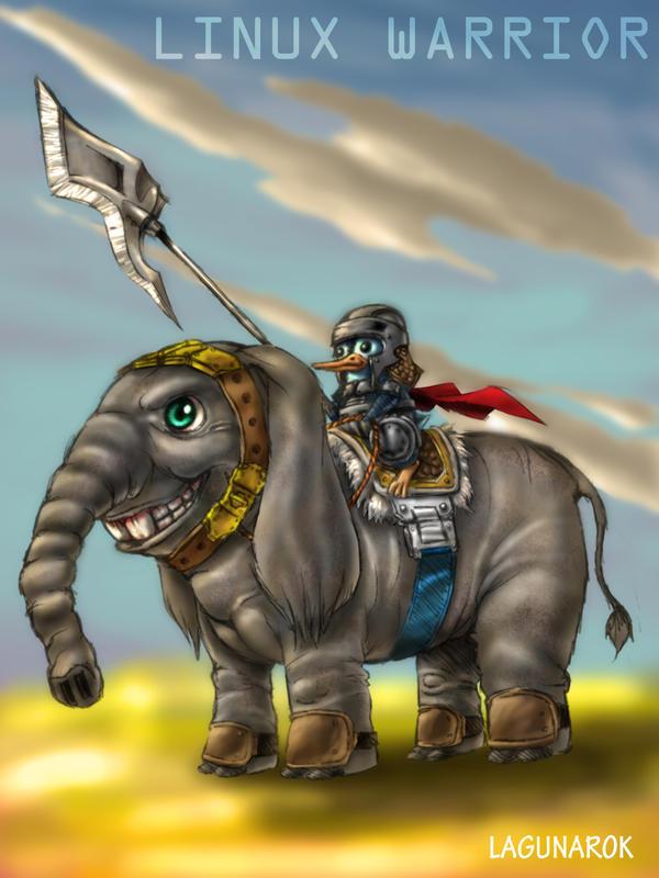 Linux Warrior by lagunarok