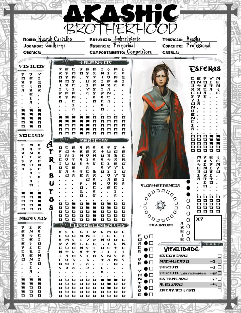 Mage Wod Custon Sheet By Sorafolktale On Deviantart