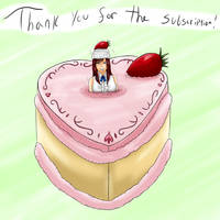 Strawberry Cake With Erza on Top (Giftart) by Lady-of-Mud