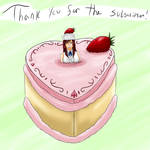 Strawberry Cake With Erza on Top (Giftart)