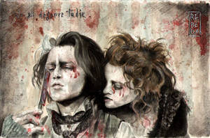 We All Deserve To Die: Sweeney Todd and Mrs Lovett by RE-BE-KA