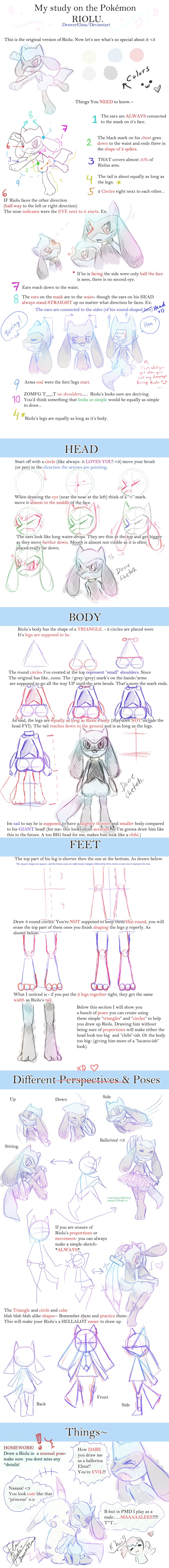 How to Draw Riolu - DrawerElma's Study by DrawerElma