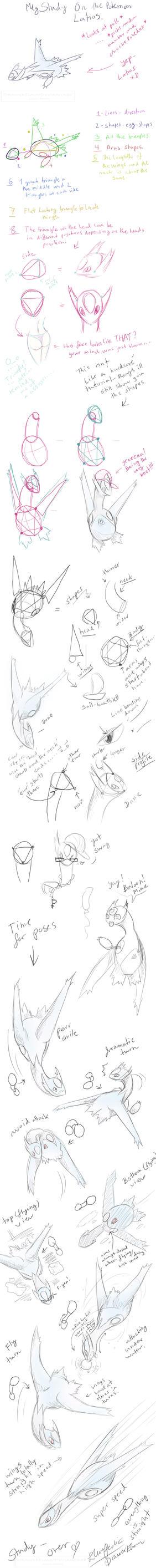 How to Draw Latios- DrawerElma's Study by DrawerElma