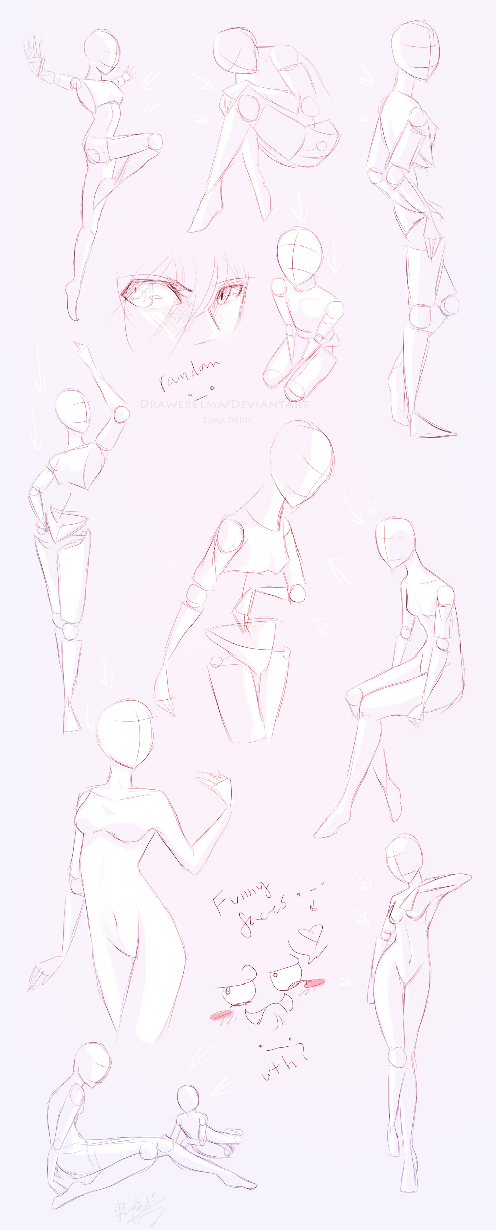 Character Design Poses : Character design references drawing anime body