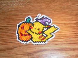 Halloween Pikachu by Searaph