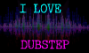 I Love Dubstep Stamp by Techno-Drawer