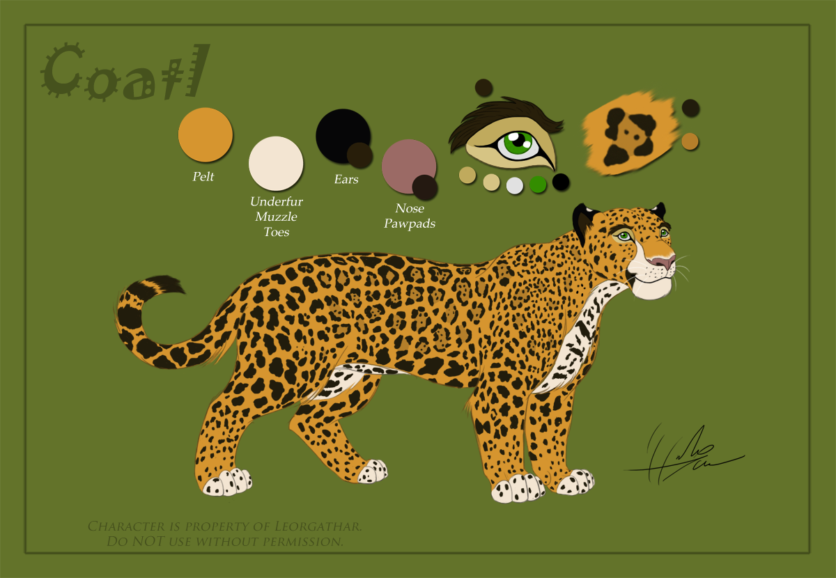 Coatl - Reference Sheet by Leorgathar