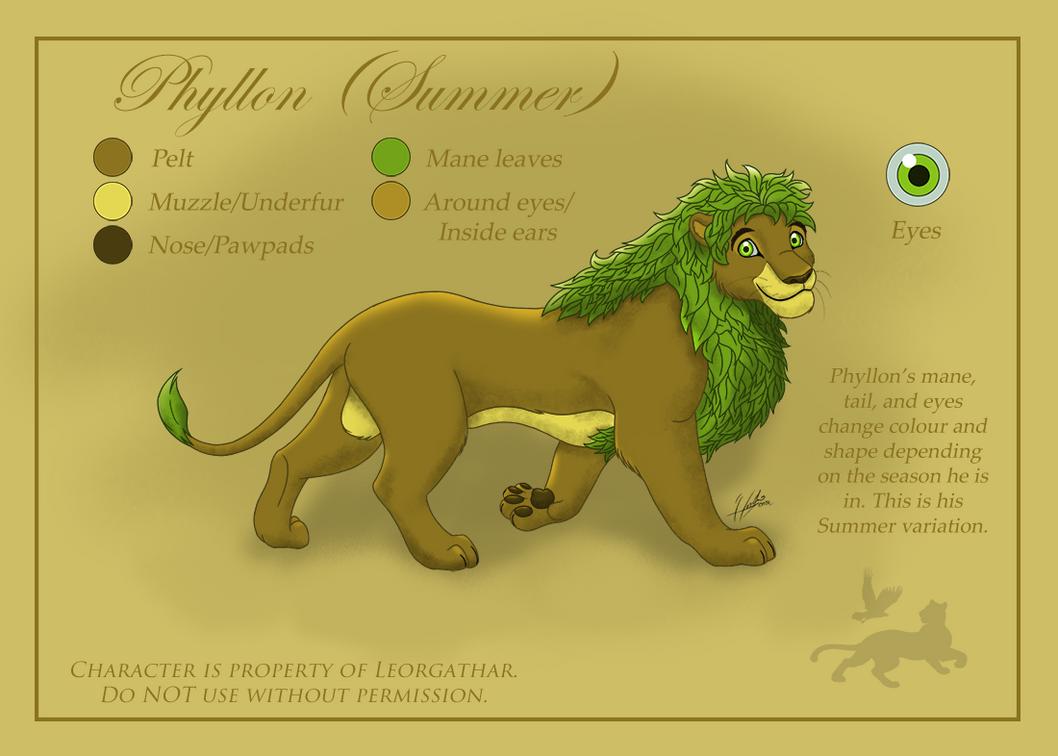 Adult Phyllon (Ref. Sheet) by Leorgathar