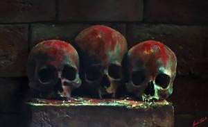 3 Skulls by oozkr