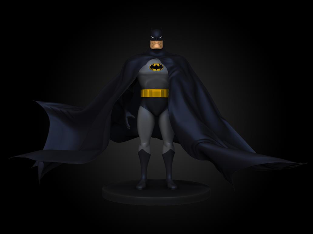 Batman TAS wip by blendedhead on DeviantArt
