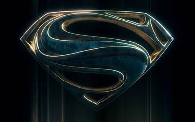 Bluish Man Of Steel Logo by blendedhead