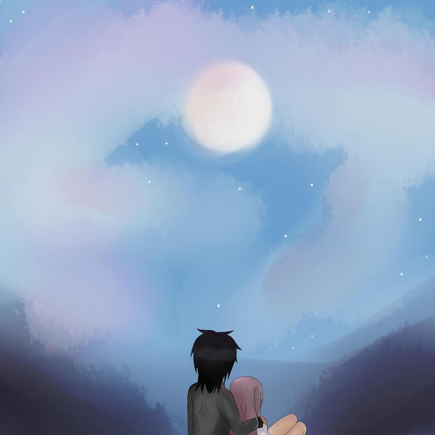 Esumi's Art Corner Staring_at_the_moon_by_lavixkite-d5eg8x6