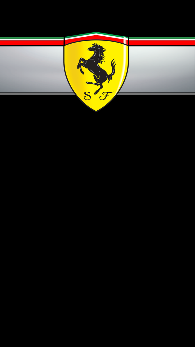Ferrari logo wallpaper black